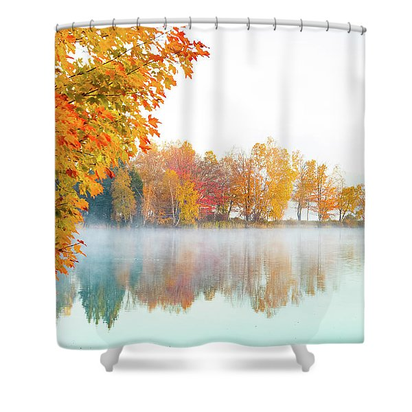 New England Fall Colors Of Maine Shower Curtain