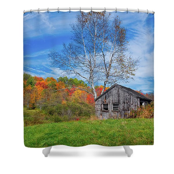 New England Fall Foliage Shower Curtain