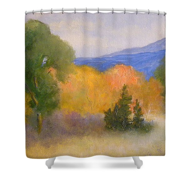 New England Fall Shower Curtain