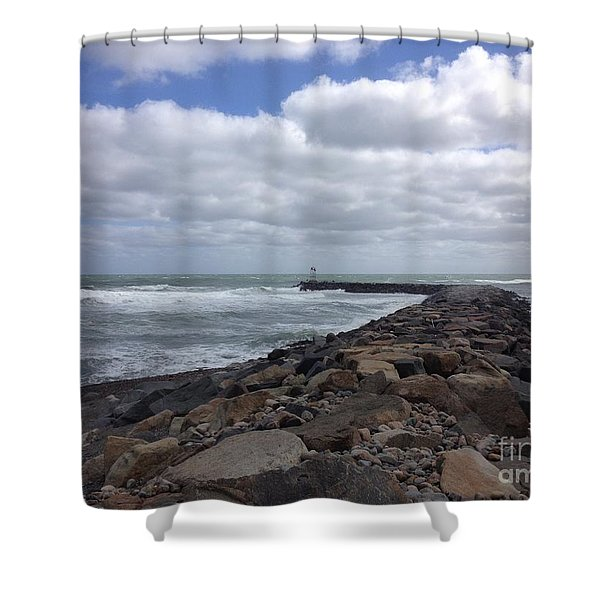 New England Jetty Shower Curtain