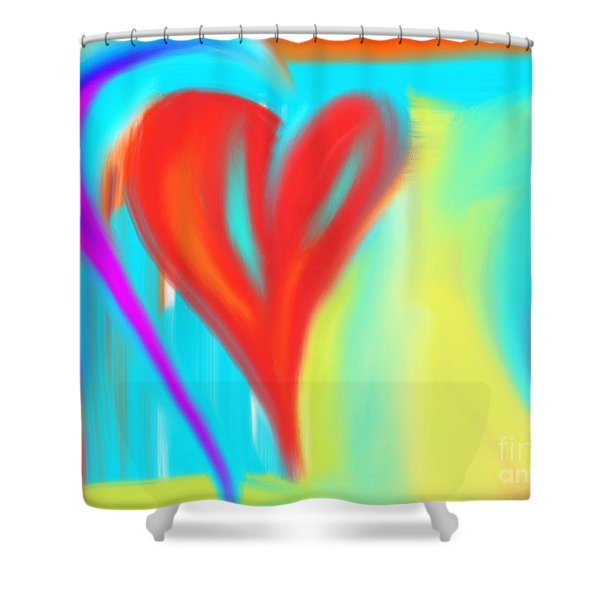 New Heart Shower Curtain