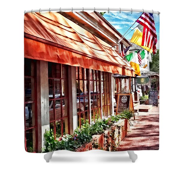 New Hope Pa - Outdoor Seating Now Open Shower Curtain