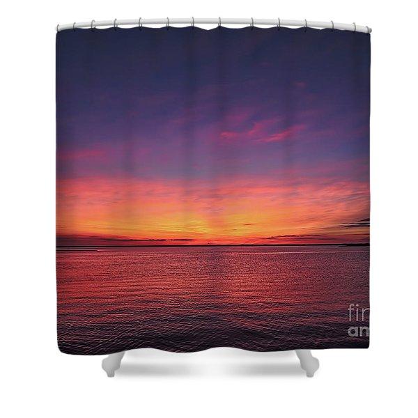 New Jersey Shore Sunset Shower Curtain