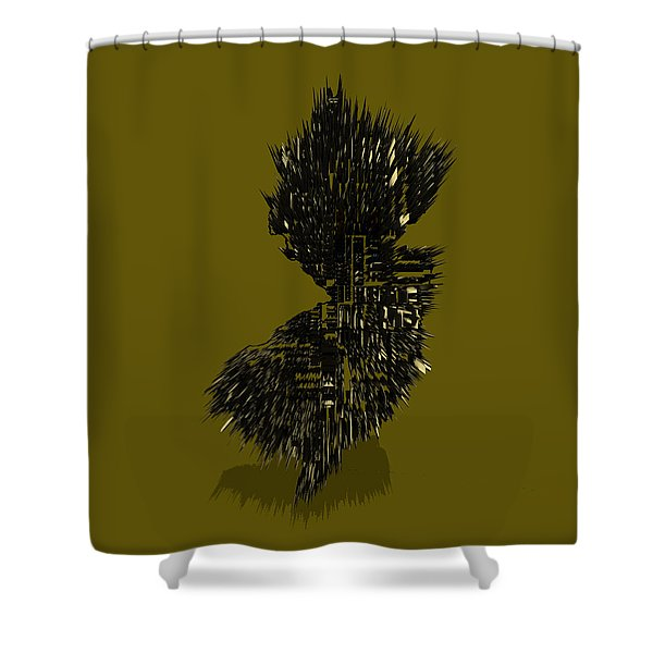 New Jersey Typographic Map 4b Shower Curtain