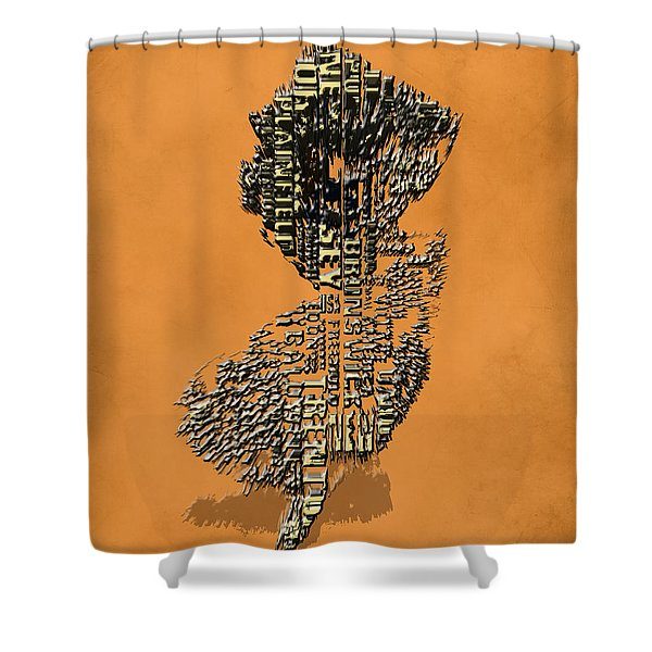 New Jersey Typographic Map 4i Shower Curtain