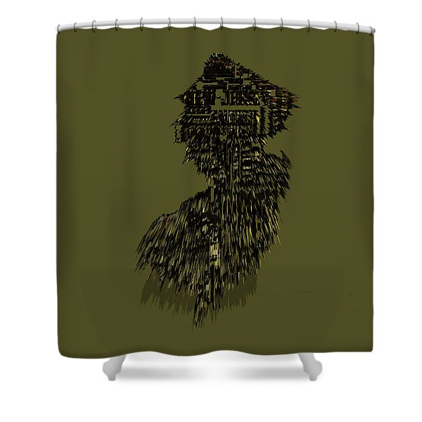 New Jersey Typographic Map 5m Shower Curtain