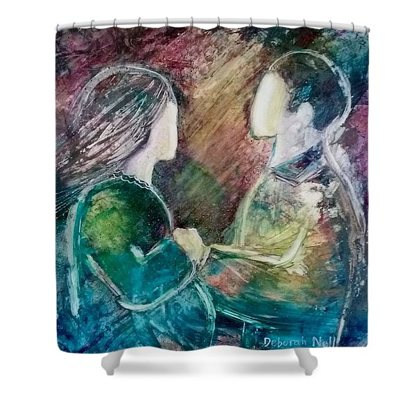 Shower Curtain featuring the painting New Life by Deborah Nell