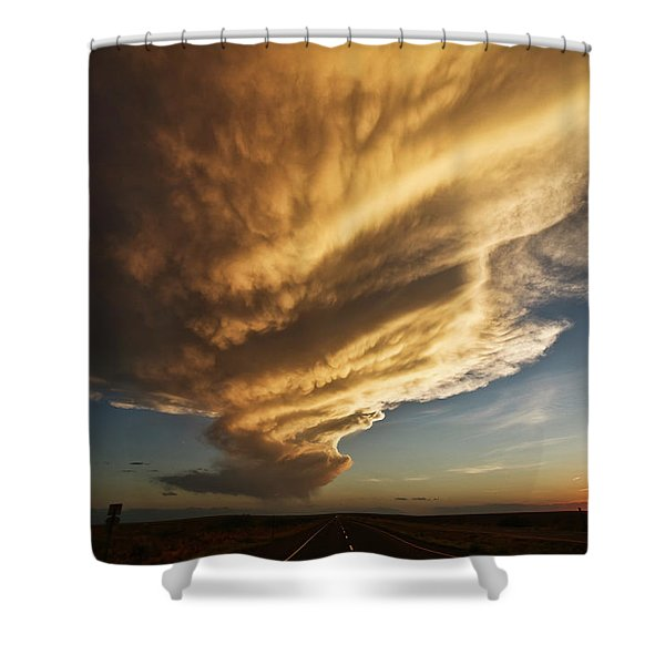 New Mexico Structure Shower Curtain