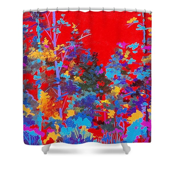 New Mexico Woods Shower Curtain