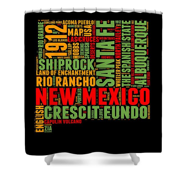 New Mexico Word Cloud Map 1 Shower Curtain