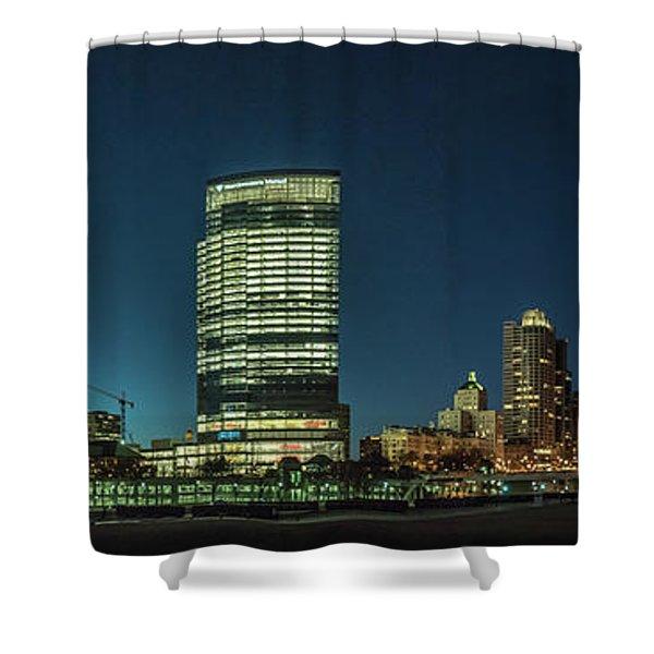 New Milwaukee Skyline Shower Curtain
