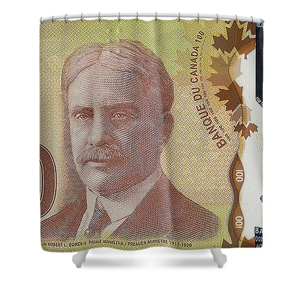 New One Hundred Canadian Dollar Bill Shower Curtain