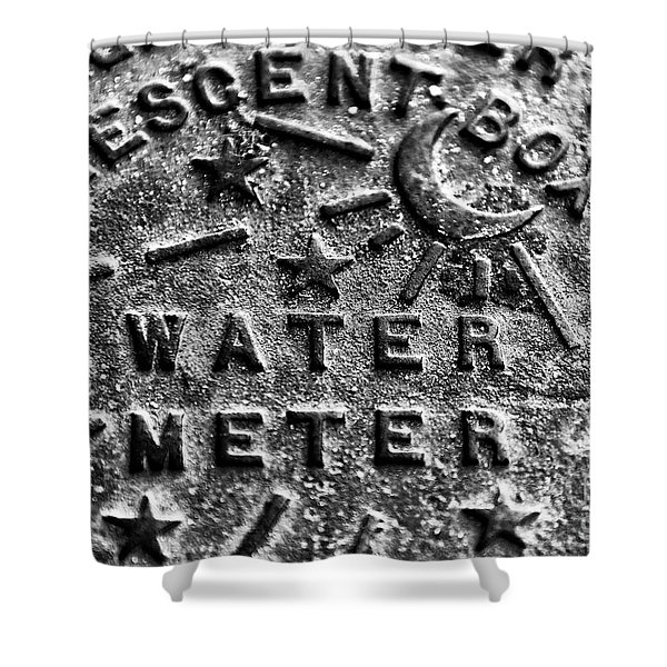 New Orleans Crescent Box Water Meter Shower Curtain