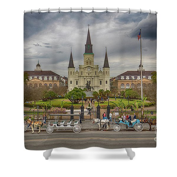 New Orleans Jackson Square Shower Curtain
