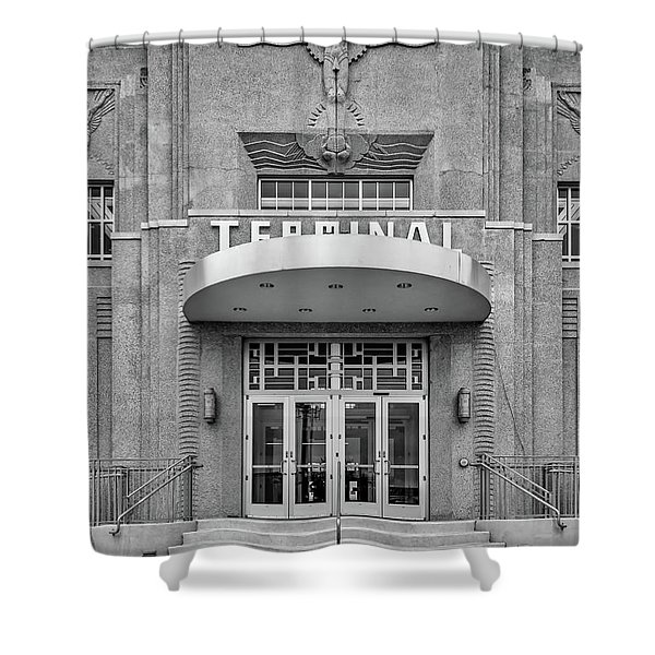 New Orleans Lakefront Airport Bw Shower Curtain