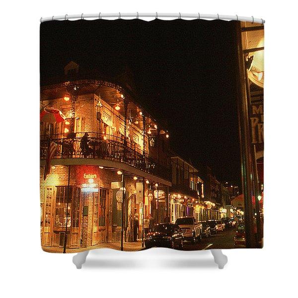 New Orleans Jazz Night Shower Curtain
