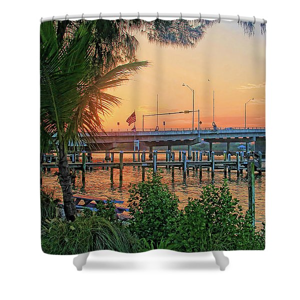 New Pass Bridge 2 Shower Curtain