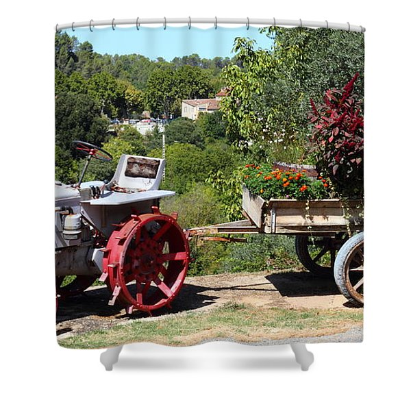 New Pastures Shower Curtain