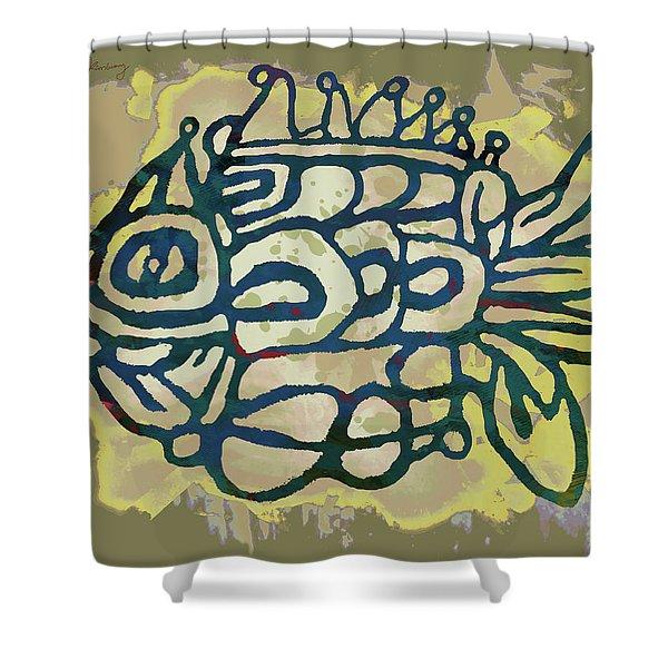 New Pop Art - Tropical Fish Poster Shower Curtain