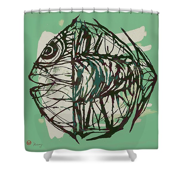 New Pop Art Tropical - New Fish Poster Shower Curtain