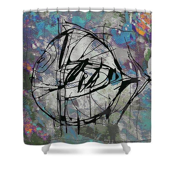 New Pop - Fish Art Poster Shower Curtain