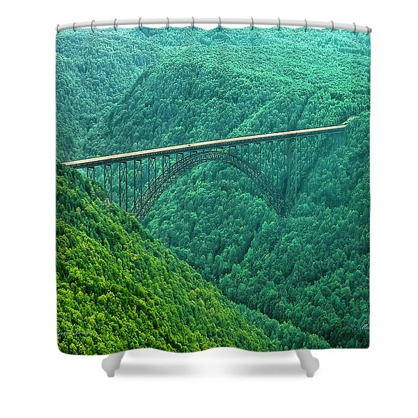 New River Gorge Bridge Shower Curtain