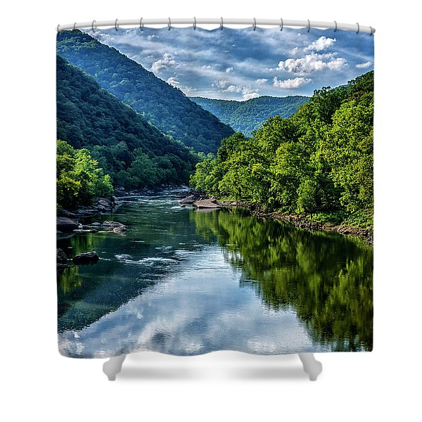 New River Gorge National River 3 Shower Curtain