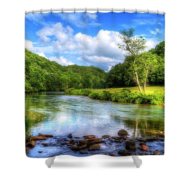 New River Summer Shower Curtain