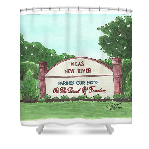 New River Welcome Shower Curtain