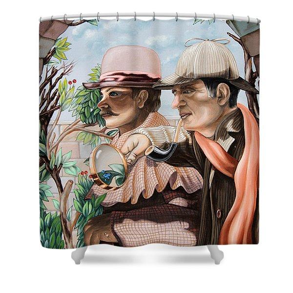 New Story By Sir Arthur Conan Doyle About Sherlock Holmes Shower Curtain