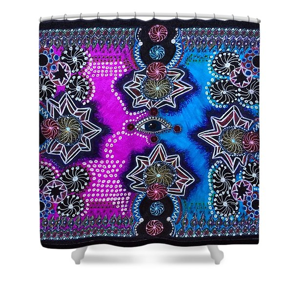 Variation On Fixation #18 Shower Curtain