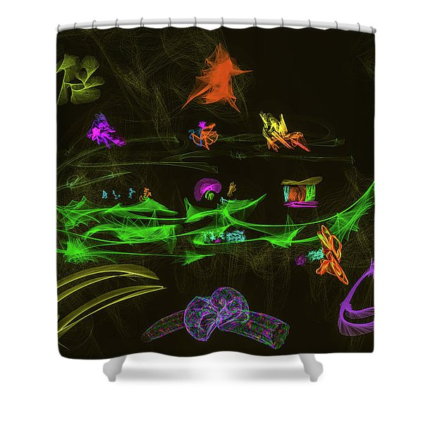 New Wold #g9 Shower Curtain