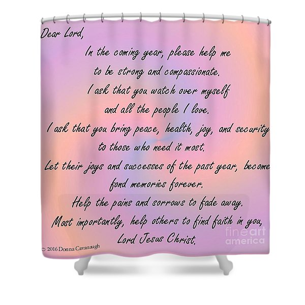 New Year Prayer Shower Curtain