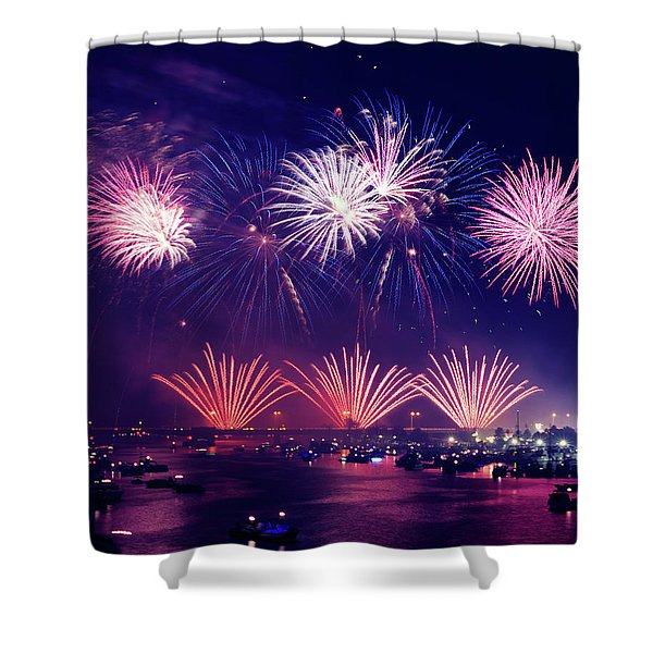 New Year's Eve Shower Curtain