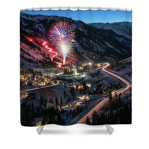 New Year's Eve At Snowbird Shower Curtain