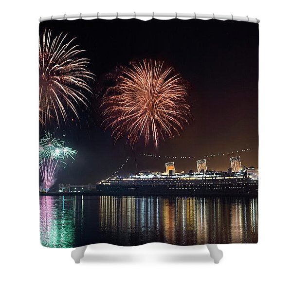 New Years With The Queen Mary Shower Curtain