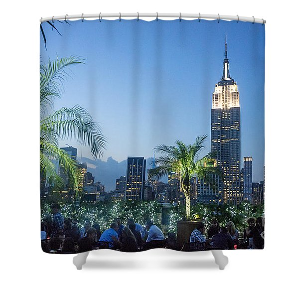 Shower Curtain featuring the photograph New York 230 Fith Rooftop Bar  by Juergen Held