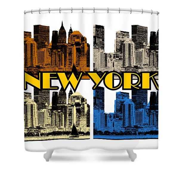 New York 4 Color Shower Curtain