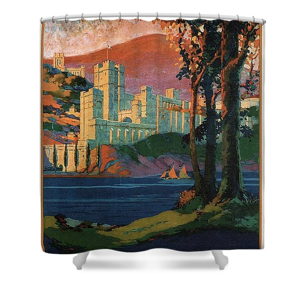 New York Central Lines - West Point - Retro Travel Poster - Vintage Poster Shower Curtain