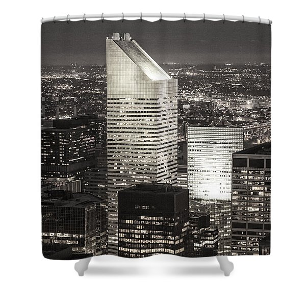 Shower Curtain featuring the photograph New York Citigroup Center  by Juergen Held