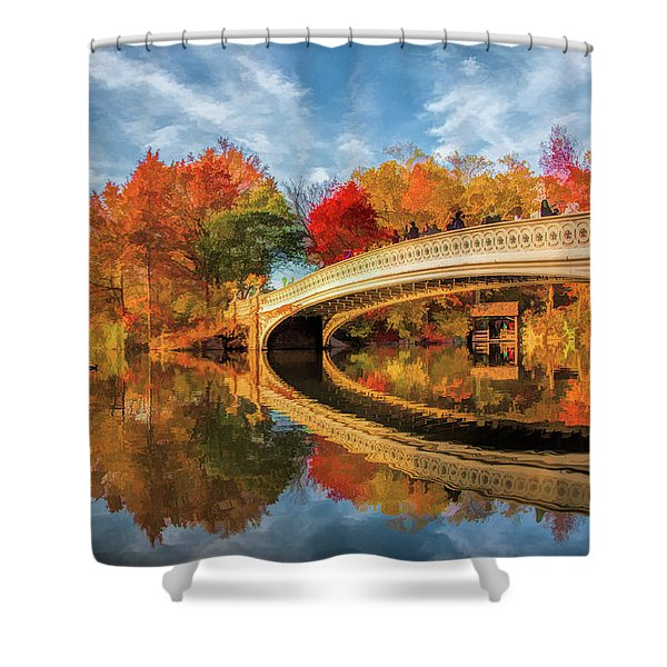 New York City Central Park Bow Bridge Shower Curtain