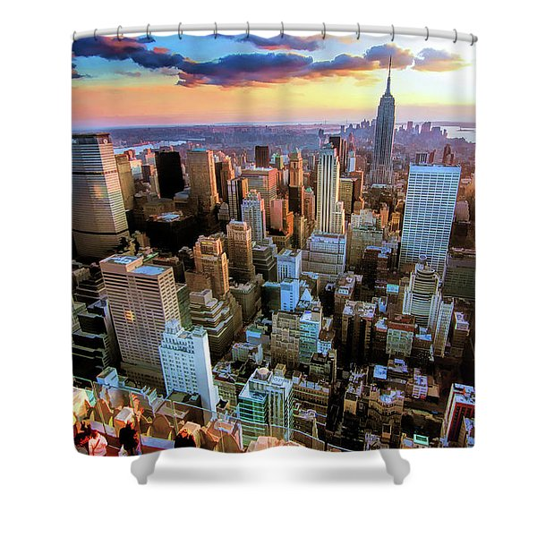 New York City Downtown Manhattan Shower Curtain