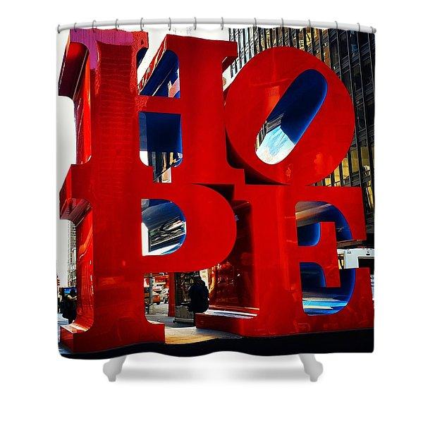 New York City - Hope Shower Curtain