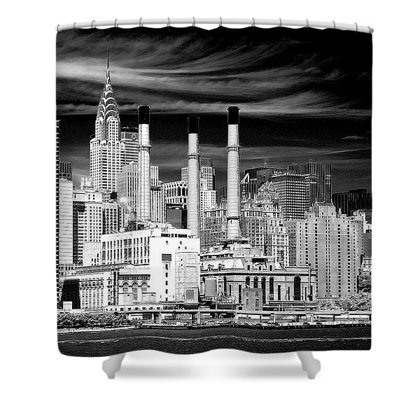 Shower Curtain featuring the photograph New York City by Ken Barrett
