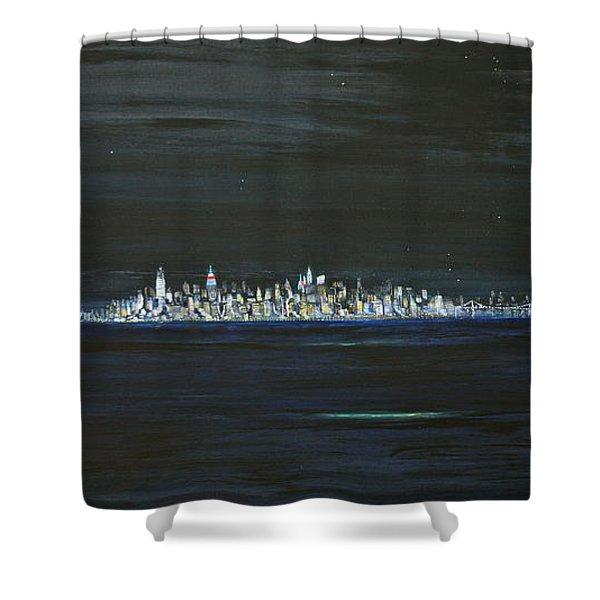 New York City Nights Shower Curtain