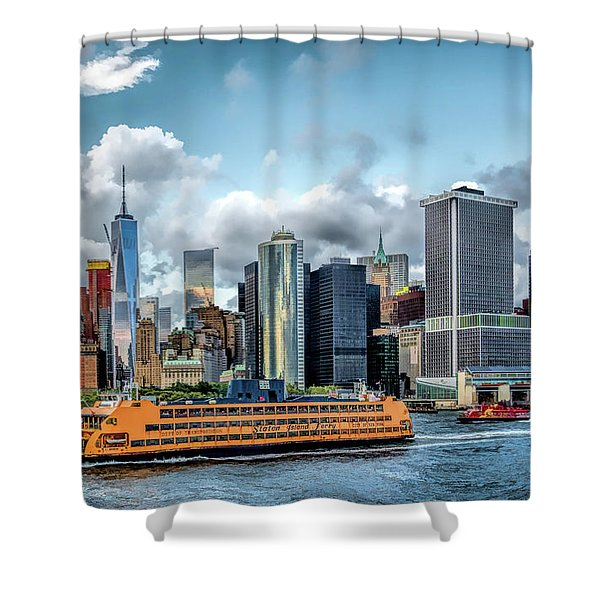 New York City Staten Island Ferry Shower Curtain