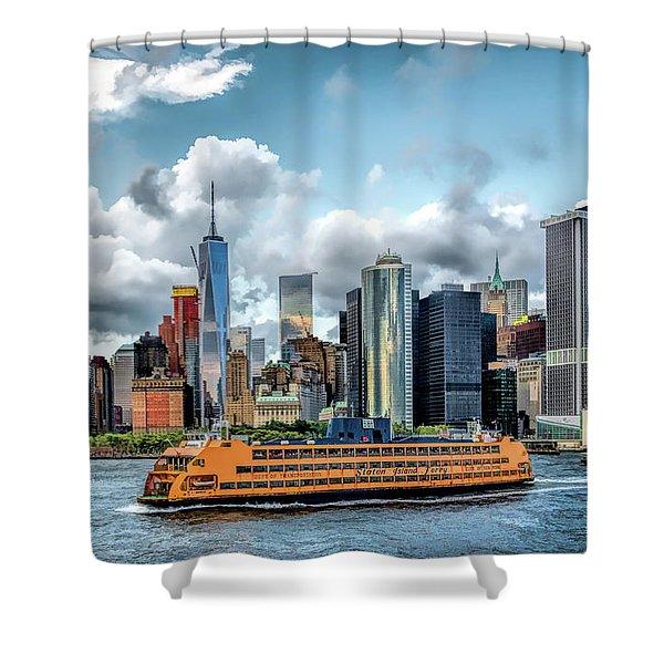 New York City Staten Island Ferry Shower Curtain