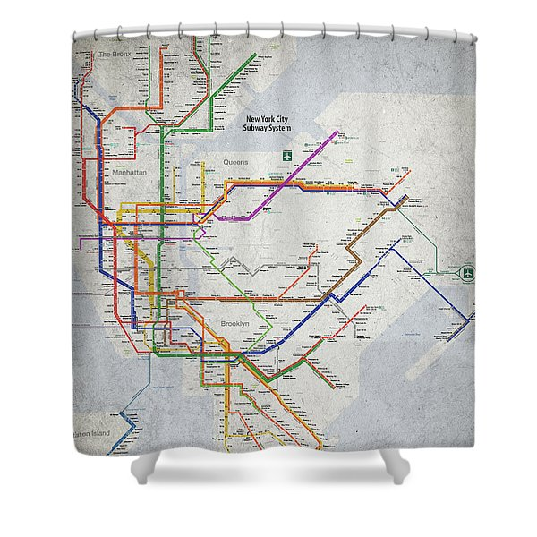 Ny Subway Map Shower Curtain.New York City Map Shower Curtains Pixels