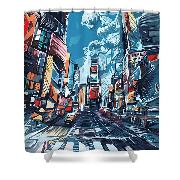New York City-times Square Shower Curtain