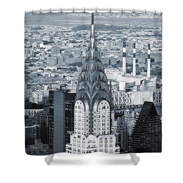 New York City - Usa - Chrysler Building Shower Curtain